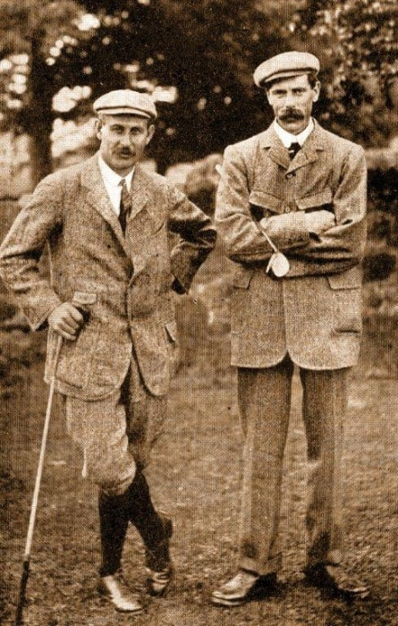 James Braid (right) with Harry Vardon